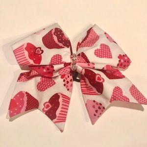 Halo fabric cheer bow